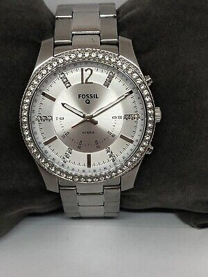 Fossil Q NDW4J Unisex Stainless Steel Analog Silver Dial Hybrid Smartwatch QB286