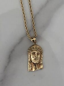 10k Gold Rope Chain + Pendants