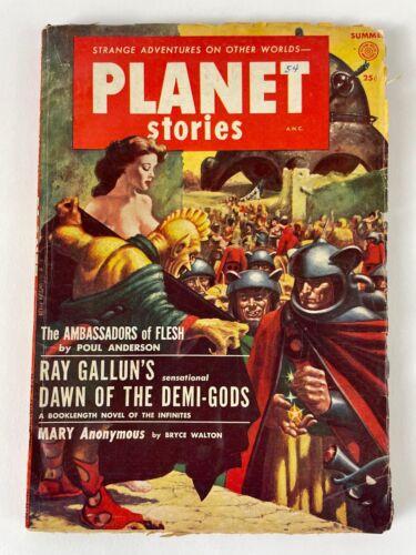 PLANET STORIES 1954, vol: 6 #7 - Anderson, Gallun, Sheckley, Stearns, Walton +