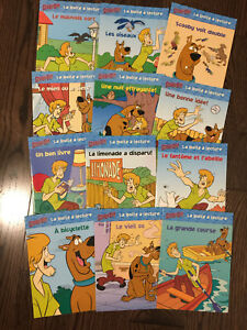 French Scooby Doo 12 book collection