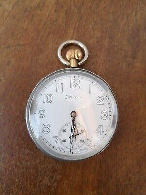 A vintage British army Helvetia pocket watch.
