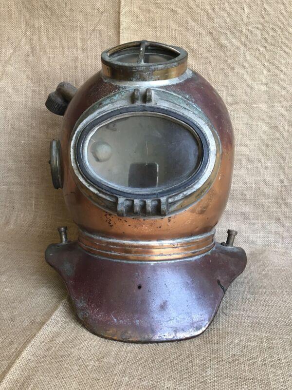 Vintage WW II Deep Sea Diving Helmet SIEBE GORMAN MINE CLEARANCE British Navy