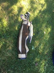 Vintage ladies golf clubs with bag