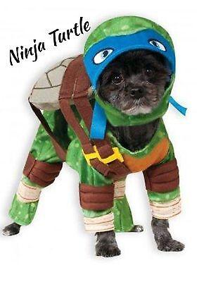 Nickelodeon Teenage Mutant Ninja Turtles LEONARDO DOG COSTUME Medium Halloween
