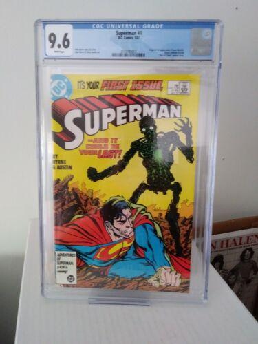 Superman #1 CGC 9.6 (1/87) DC Comics Origin & 1st app of New Metallo