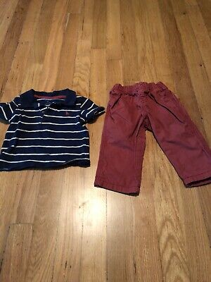 Carters Infant Boys Blue Red Two Piece Outfit 9 Months Blue Infant Two Piece