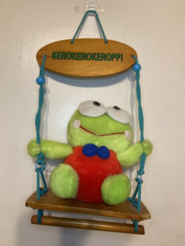 VINTAGE VERY RARE! Sanrio KEROPPI On Swing from JAPAN!