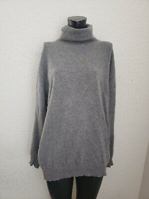 Vintage 1970's Authentic GUCCI GG Cashmere Gray Long Sleeve Sweater 56