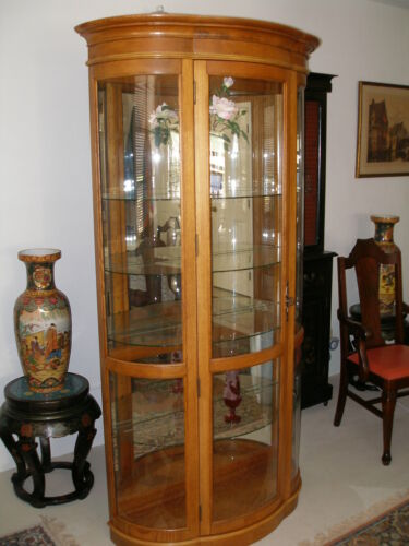 Curio Display Cabinet oak
