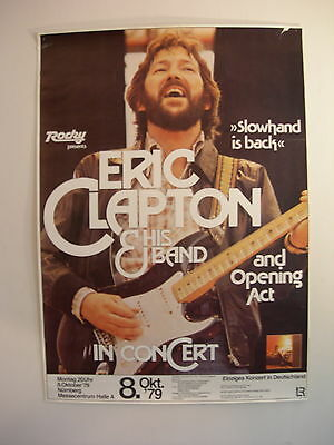 ERIC CLAPTON CONCERT TOUR POSTER 1979 BACKLESS