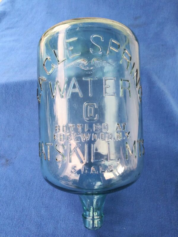 RARE CATSKILL MOUNTAINS EAGLE SPRING WATER EDGEWOOD NY 5 GAL JUG BOTTLE CARBOY