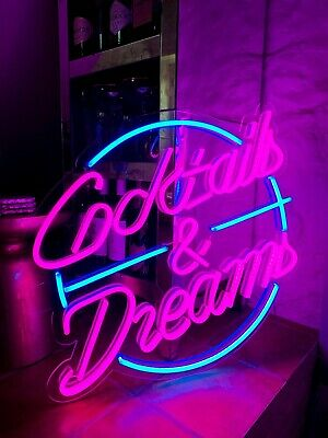 Cocktails and Dreams – LED Neon Sign - Perfect Christmas Gift