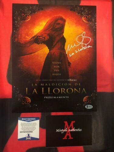 MARISOL RAMIREZ THE CURSE OF LA LLORONA SIGNED 11x14 PHOTO! BECKETT COA! HORROR!