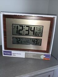 Better Homes & Gardens Atomic Clock w/ Weather, Temperature & Alarm Time/Date