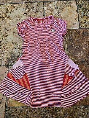 Size 3 No Added Sugar Red White Orange Dress