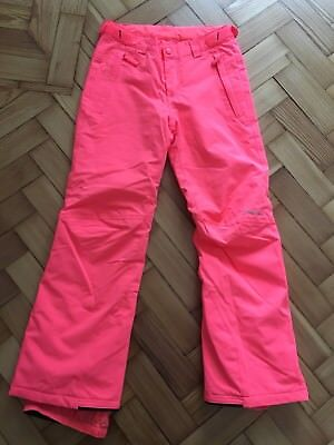 Girls O'Neill Ski Trousers pants sallopettes Neon pink size 152cm Excellent Cond for sale  Wirral
