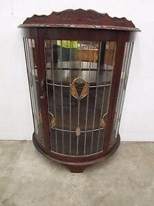 D2053 Beautiful ART DECO Blackwood Display Cabinet Leadlight Unley Unley Area Preview