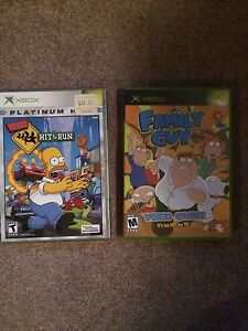 Simpsons Hit & Run And The Family Guy Original XBOX Games