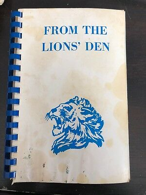 Lions Den Bible (Lisle IL  RECIPES FROM THE LIONS' DEN *RARE High School COOK BOOK By Minit)