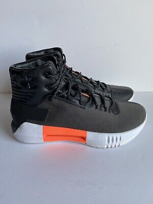 Under armour Drive4 Basketball Shoes Black/orange 1302941-001 Men's Size 9 M
