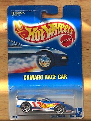 HOT WHEELS VHTF BLUE CARD SERIES 1993 CAMARO RACE CAR #242