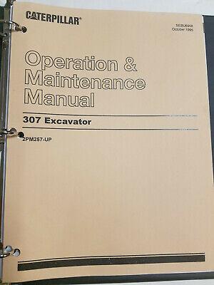 Cat Caterpillar 307 Excavator Operation Maintenance Manual 2pm257-up Sebu6958