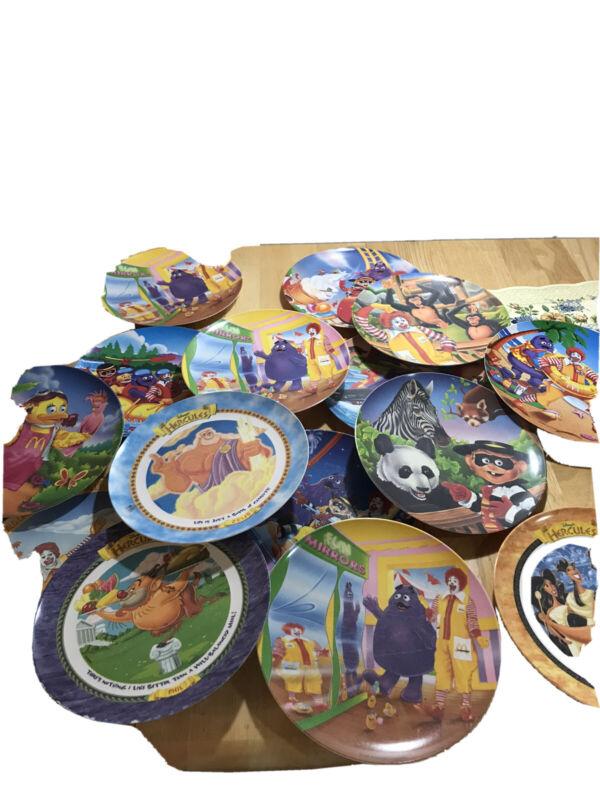 "Ronald Mcdonald Melamine 10"" Vintage Plates 14"