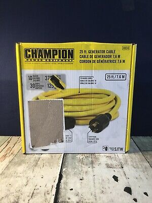 Champion 30a 125v 25-foot Generator Cable Read