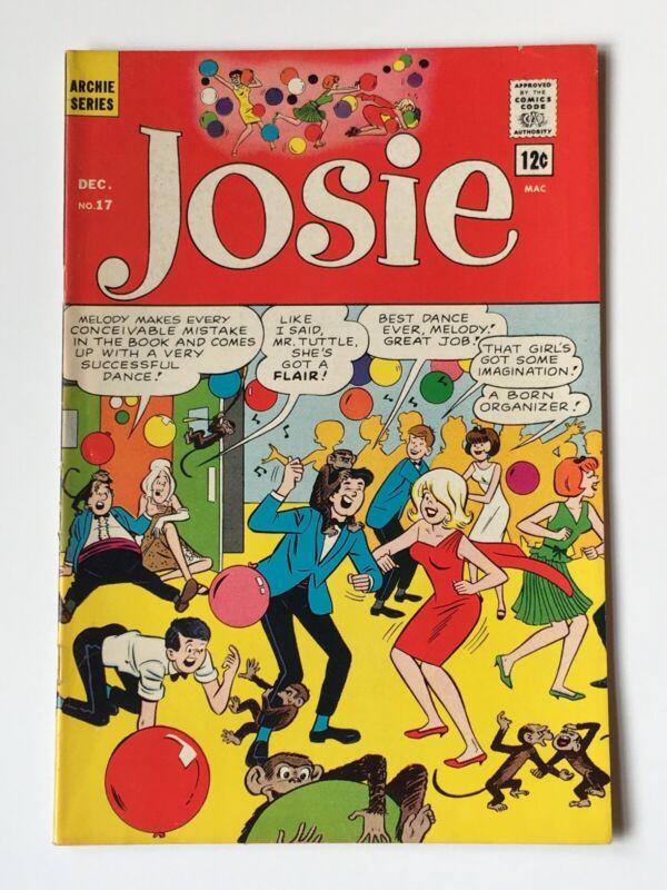 Josie #17 (Archie comics 1965) Dance Party cover FN