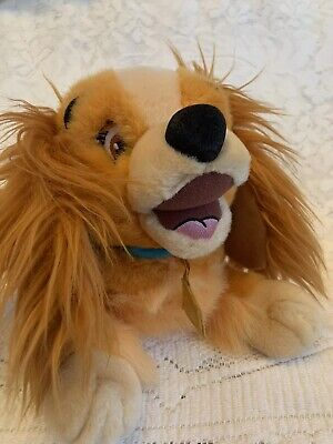 Disney Lady and the Tramp Plush Weighted Medium Stuffed Animal - EXCELLENT