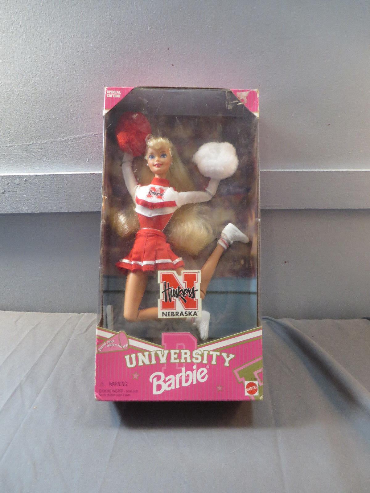 Mattel Barbie University of Nebraska Huskers Cheerleader Doll NRFB NEW