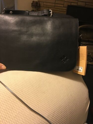 Women's Shoulder Saddle Bag Black PATRICIA NASH VEG TAN P1
