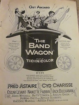 The Band Wagon, Fred Astaire, Cyd Charisse, Full Page Vintage Promotional Ad