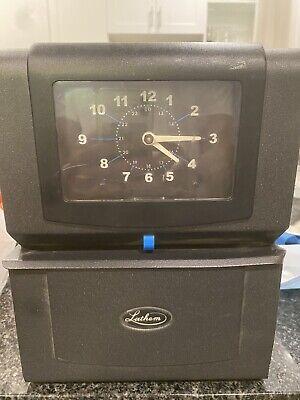 Lathem 4001 Time Clock Works Great Heavy Duty Time Recorder Missing Key Sfc