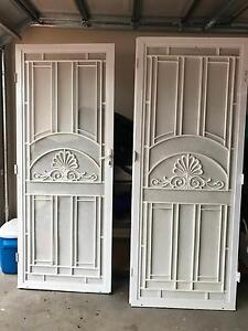 White double security doors Greenfield Park Fairfield Area Preview