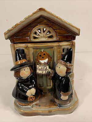 """Yankee Candle Halloween Kids """"Party's Here"""" Tart Votive Wax Warmer Witches House"""