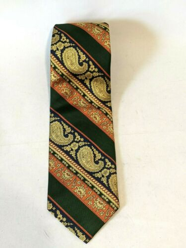 Vintage LANVIN New York Paris Mens Silk Paisely Print Neck Tie