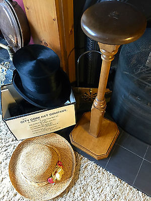 Fabulous Vintage Stripped Pine Hat Stand/Hat Holder/ Display Stand