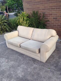 Free beige couch.  Yarraville Maribyrnong Area Preview