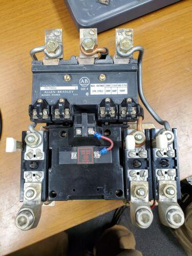 😎 ALLEN BRADLEY SIZE 4 MOTOR STARTER 120 VAC COIL 600 VAC 100 HP 709-E0D804