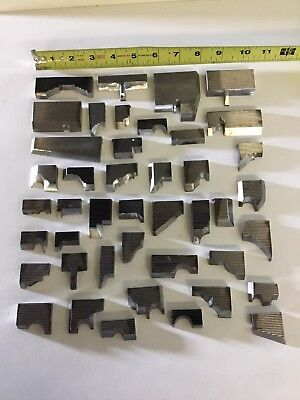 Lot 10 Of Small Steel Moulding Knives Weinig Corrugated Knives Shaper Profiles.