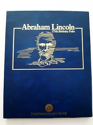 Folio commémoratif d'Abraham Lincoln 175ème anniversaire