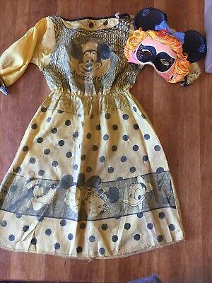 50's VINTAGE HALLOWEEN BEN COOPER DISNEY Mickey Mouse Club Mask W/ Costume W/Box
