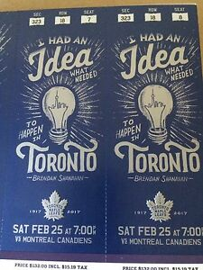 Maple Leafs vs Montreal Canadiens Mar 25 7pm