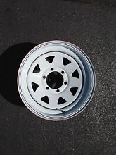 Rims,  5 x White steel rims  for GU Nissan Patrol Hornsby Heights Hornsby Area Preview