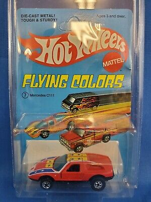 Hot Wheels Mercedes C111 On Flying Colors Card HK Base