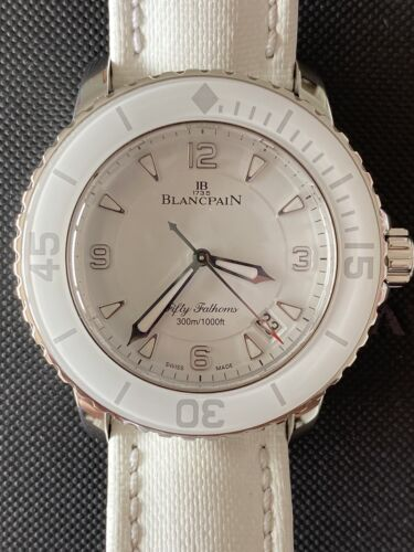 Blancpain FF Fifty Fathoms White Pristine Condition 45mm - watch picture 1