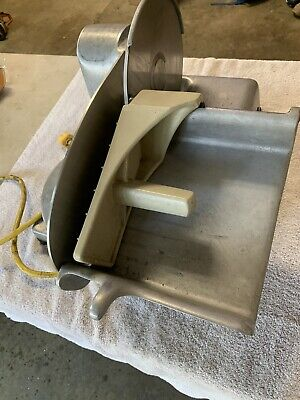 Vintage Hobart Commercial Electric Deli Meat Slicer Model 410 18 Hp Made In Usa