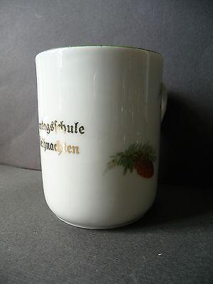 """Tasse Häferl Becher """"Sonntagsschule Weihnachten"""" Porzellan"""
