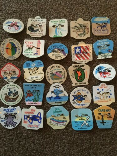 Pick 1—Original Seasonal Cape May, NJ Beach Tags/Badges 1994-2019 Multi Discount